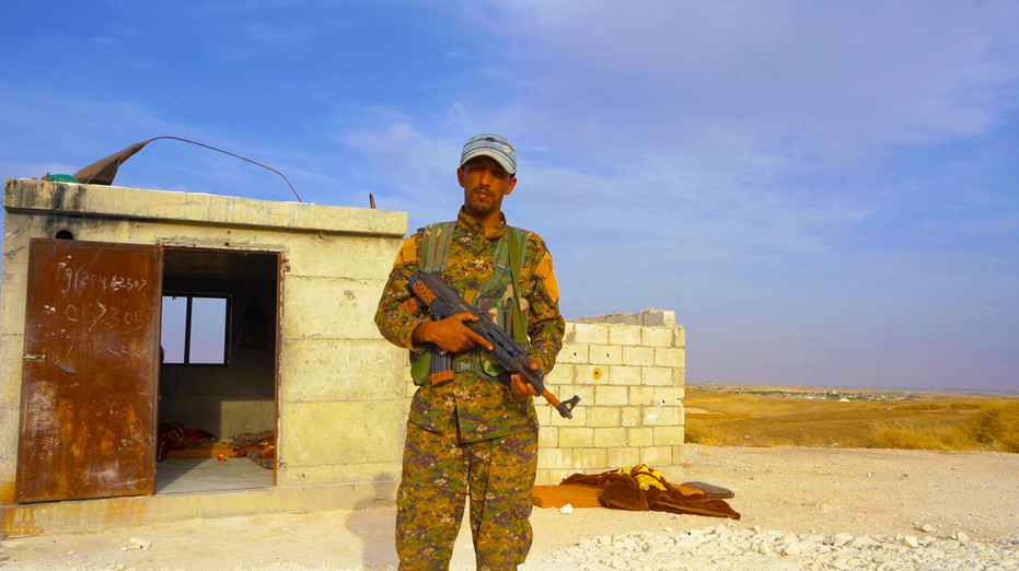 SDF Soldier on Manbij Frontline