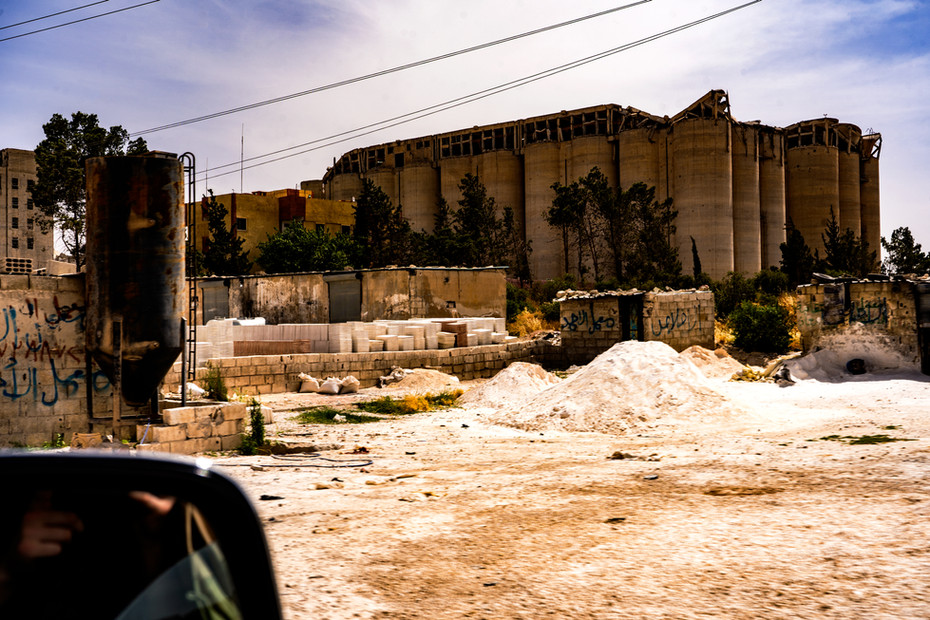 Grain Silos Outside of Raqqa