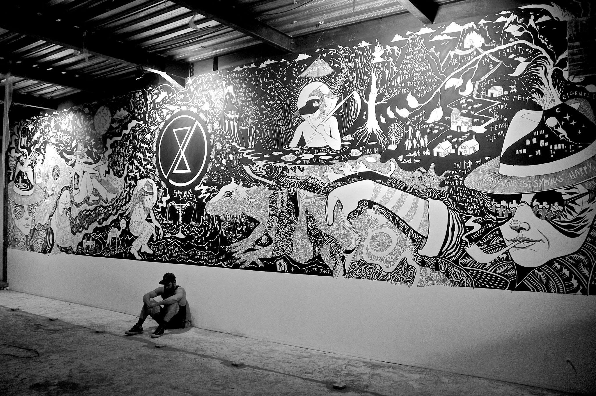 SoulBytes Cafe Mural