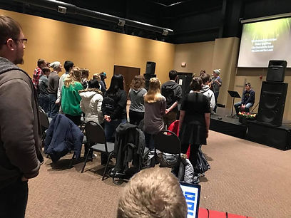 Worship Band and Students