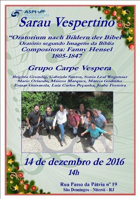 14/12/2016 - Sarau Vespertino