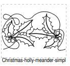 Christmas Holly Meander Fast