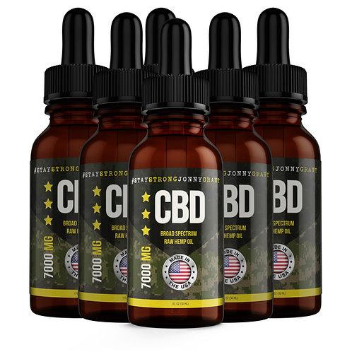 SSJG CBD Oil Tincture - Raw - 7000 mg - (6 mo. Supply)