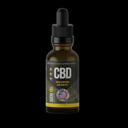 #SSJG CBD Oil Tincture - Raw - 3000 mg