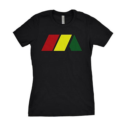 "Womens Black Mashup ""M"" Logo Tee"