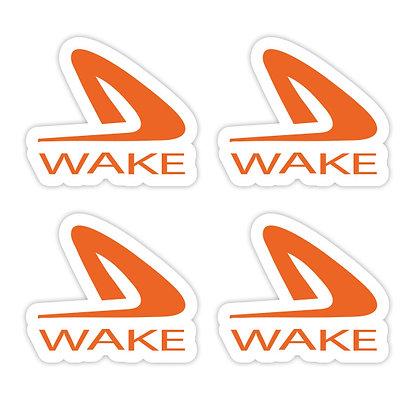 Wake Logo Decal 4 Pack