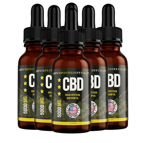 SSJG CBD Oil Tincture - Raw - 5000 mg - (6 mo. Supply)