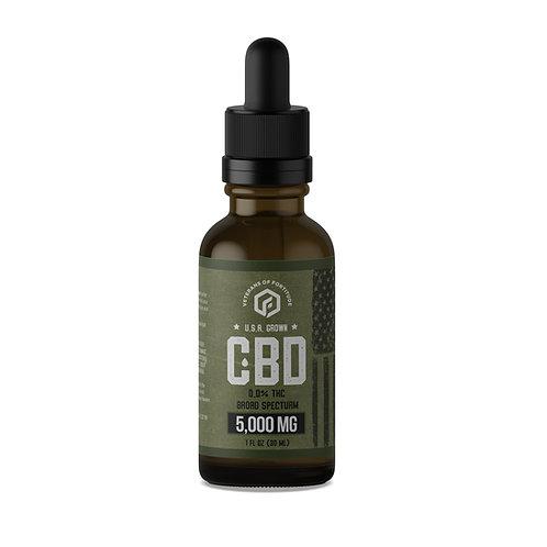 VOF CBD Oil Tincture - Raw - 5000 mg