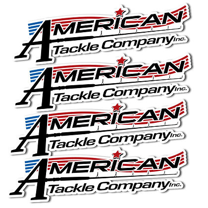 American Tackle Logo Decal 4 Pack