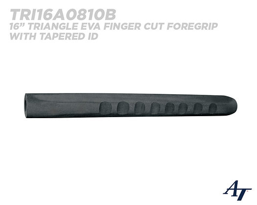 Triangle EVA Finger Cut Fore Grip with Tapered ID