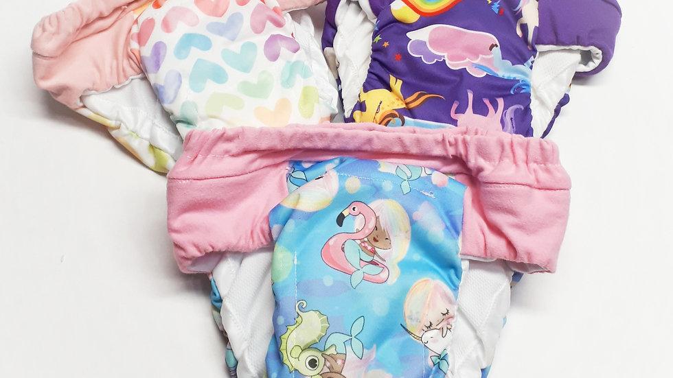 Set of 3 Girls Overnight Potty Training Pants