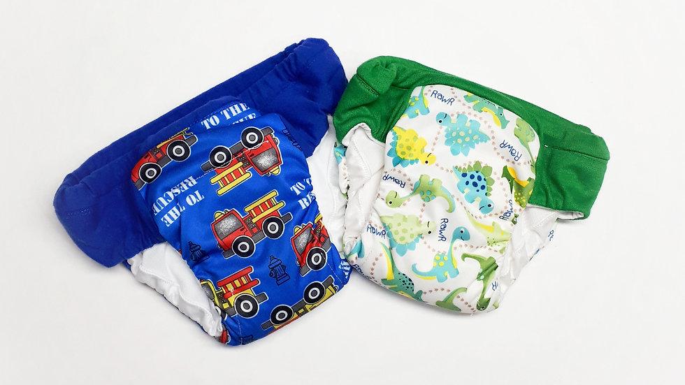 Set of 2 Boys Regular/Daytime Potty Training Pants
