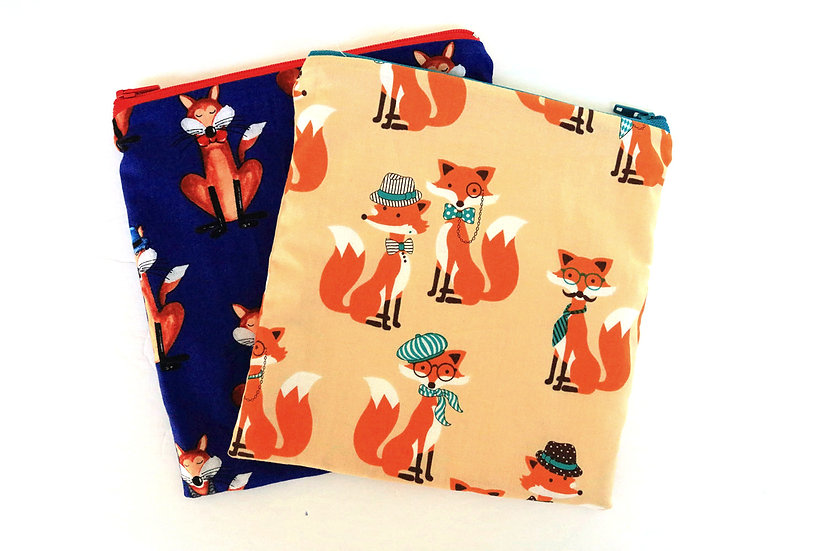 Set of 2 Reusable Snack/Sandwich Bags