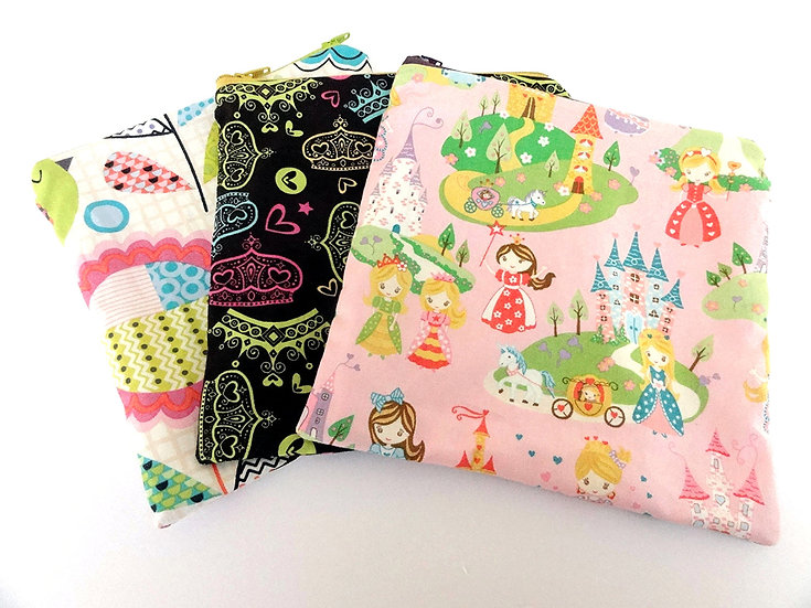 Set of 3 Reusable Snack/Sandwich Bags