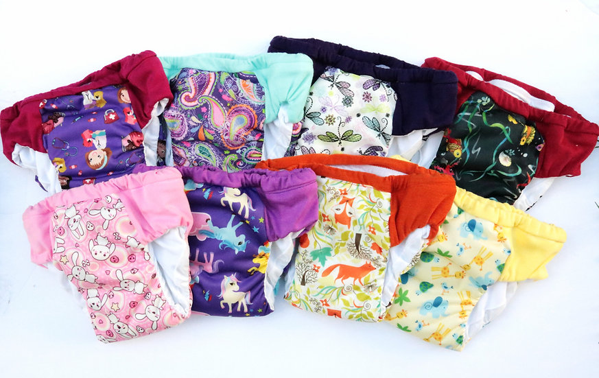Set of 8 Girls Regular/Daytime Potty Training Pants