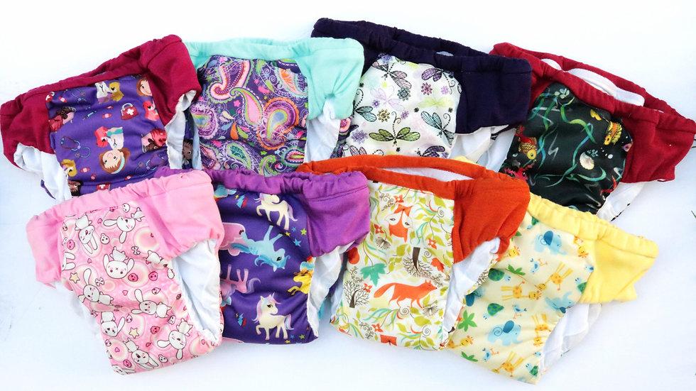 Set of 8 Girls Regular/Daytime Potty Training Pants