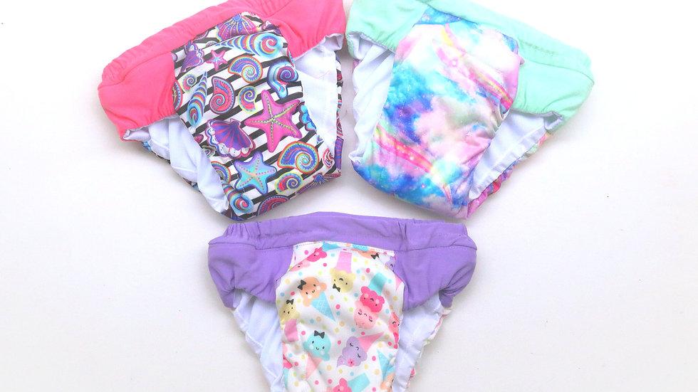 Set of 3 Girls Size XXL (7/8) Daytime Training Pants