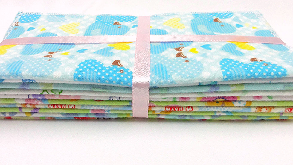 Set of 30 Reusable Baby Wipes / Cloth Wipes
