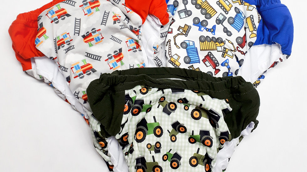 Set of 3 Boys XXL (7/8) Overnight Potty Training Pants