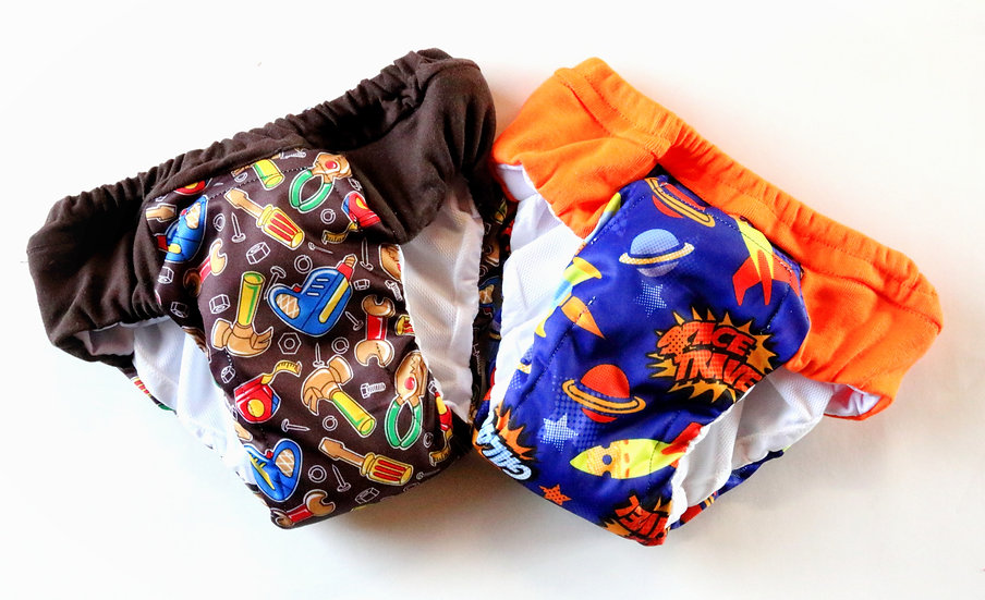Set of 2 Boys Regular/Daytime Potty Training Pants