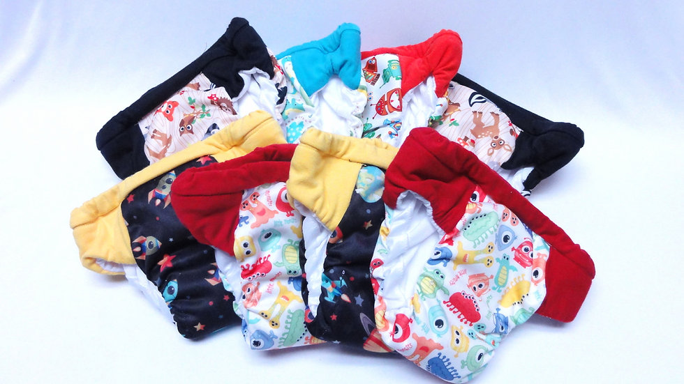 Set of 8 Boys Regular/Daytime Potty Training Pants
