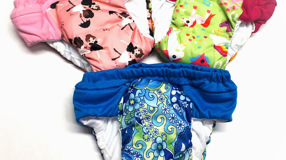 Set of 3 Girls Overnight Potty Training Pants
