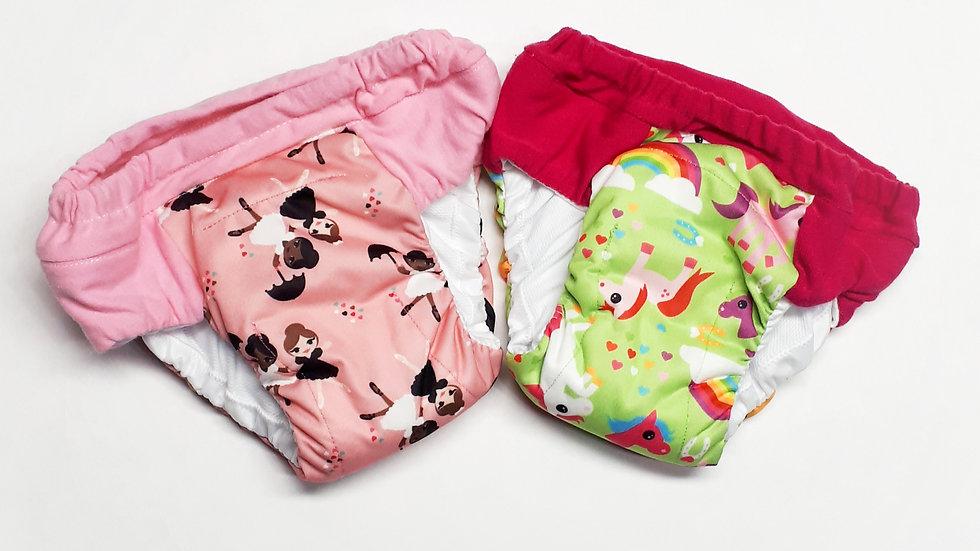 Set of 2 Girls XXL (7/8) Overnight Potty Training Pants