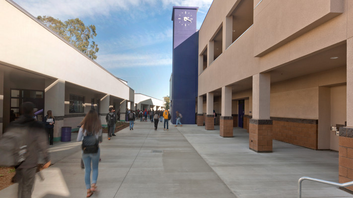 New Two-Story Classroom Building + Interim Housing, Rancho Cucamonga High School