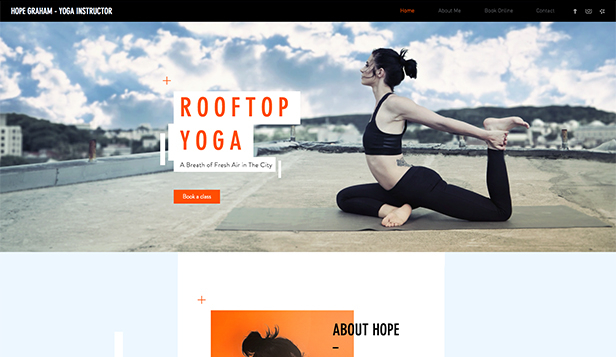 Wellness website templates – Lekce jógy