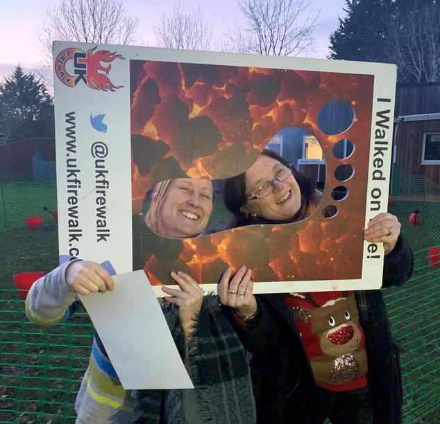 Firewalk Fundraising at Selworthy School