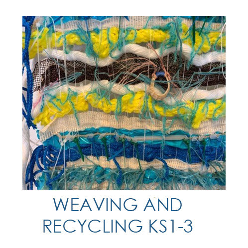 Artsmark SPARK Online Junk Weaving - Exploring and recycling materials