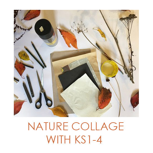 Artsmark SPARK Online Nature Collage  - Exploring textures and pattern