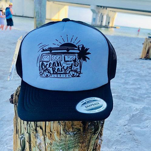 Ocean Raised Surf Bus Trucker Hat