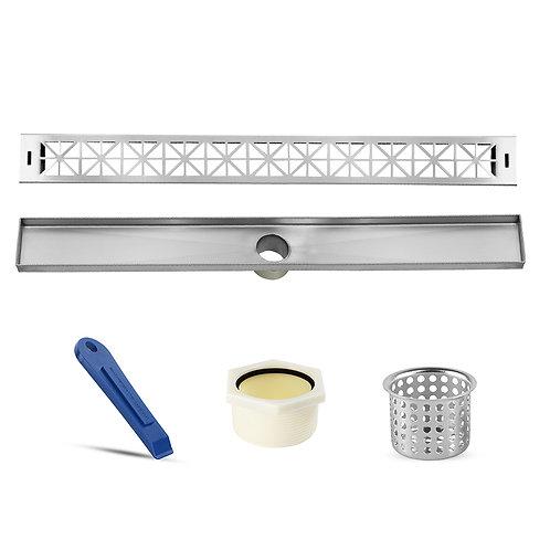LUXE Roman Stainless Steel Linear Shower Drain