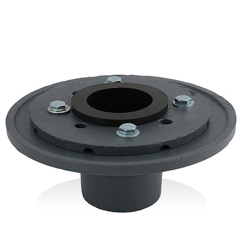 2-inch Cast Iron Drain Base with Rubber Gasket