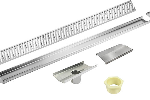 "LUXE Modular ""V"" Channel Site Adjustable Linear Shower Drain- Wedgewire Grate"