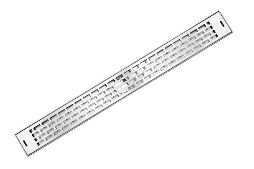 LUXE Subway Stainless Steel Linear Shower Drain