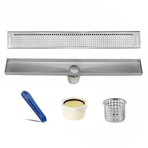 LUXE Squares Stainless Steel Linear Shower Drain