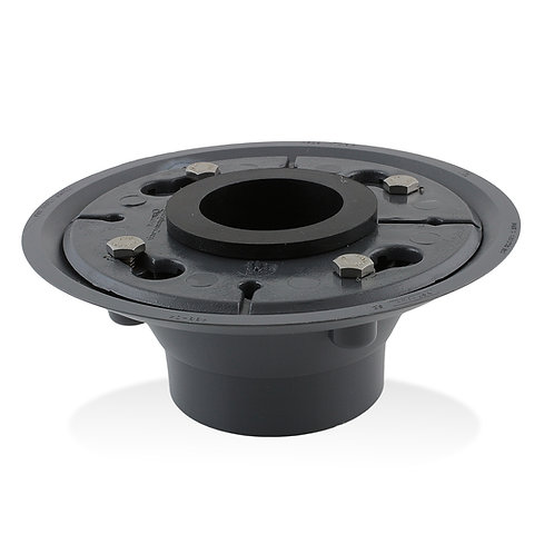 2-inch PVC Drain Base with Rubber Gasket