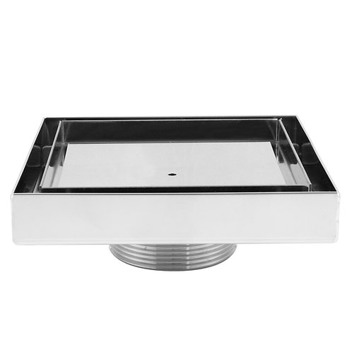 LUXE Square Tile Insert Stainless Steel Shower Drain - 5in x 5in