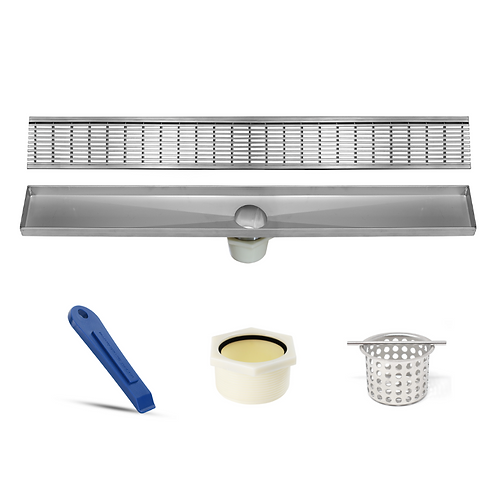LUXE Wedgewire Stainless Steel Linear Shower Drain