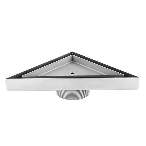 """LUXE Triangle Tile Insert Stainless Steel Shower Drain 6"""" x 6"""""""