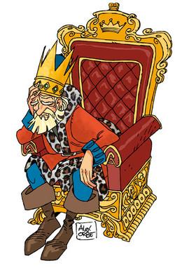 el rey preocupado