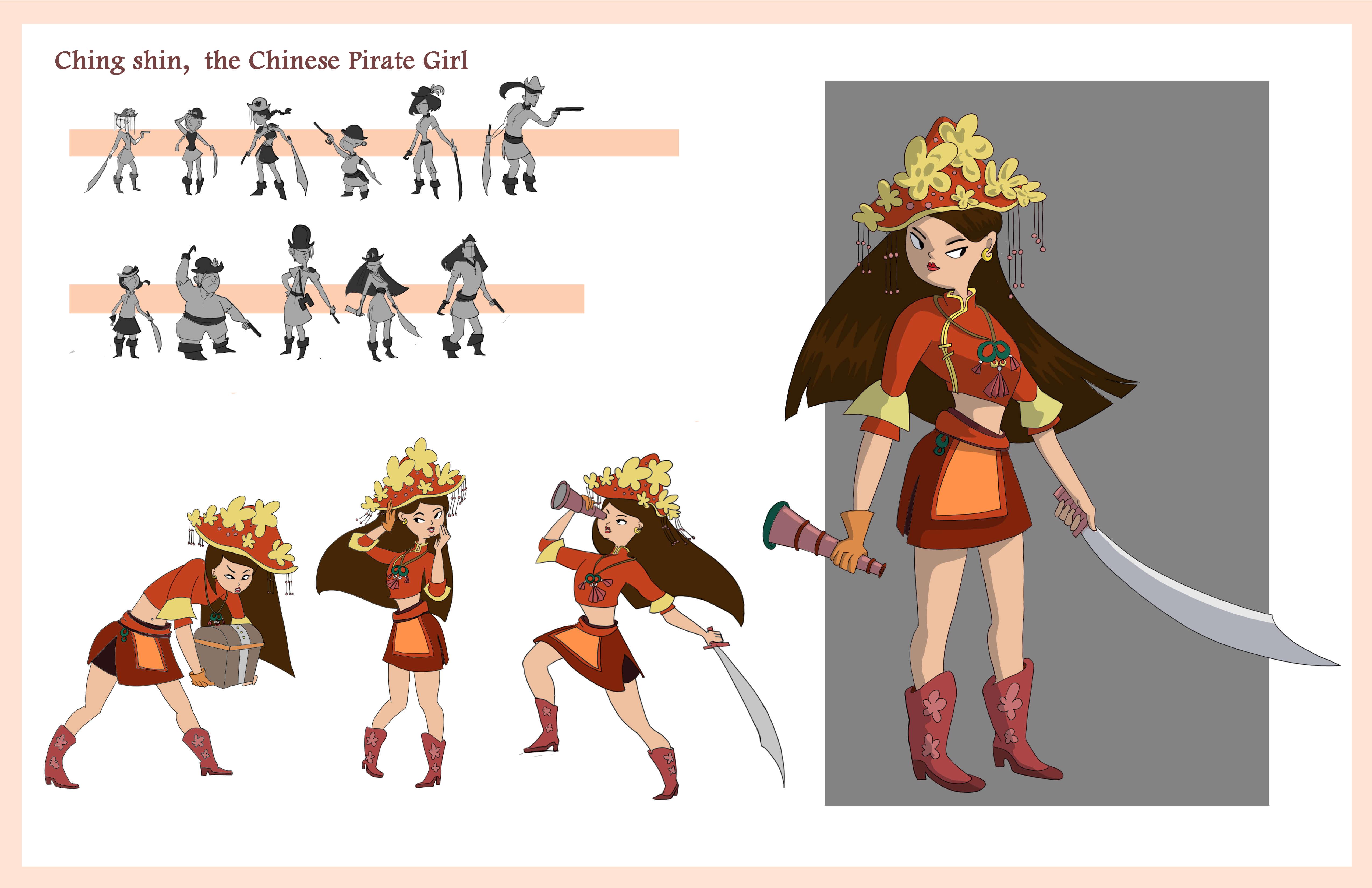Chinese Pirate Girl Design
