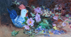Chicken and FLowers