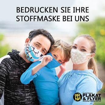 Print Druck Stoffmaske, Werbung