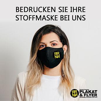 Print Druck Stoffmaske, Werbung,