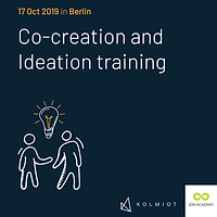 Co-creation and Ideation for (Service) Design
