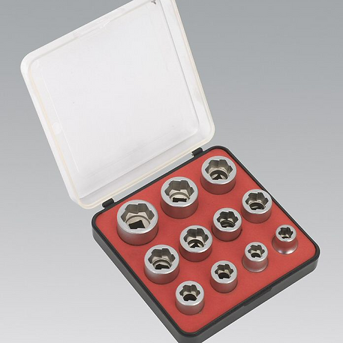 "11pc Bolt Extractor Set - 3/8""drive"