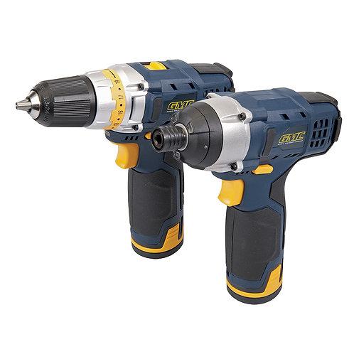 GTPDDID12 - 12v Combi Drill & Impact Driver Kit